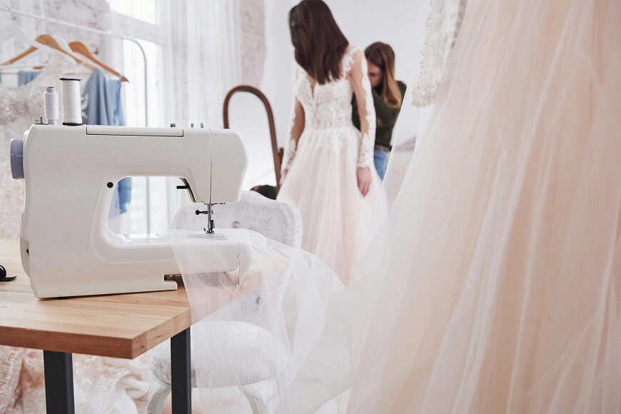 wedding dress fitting tailor in London