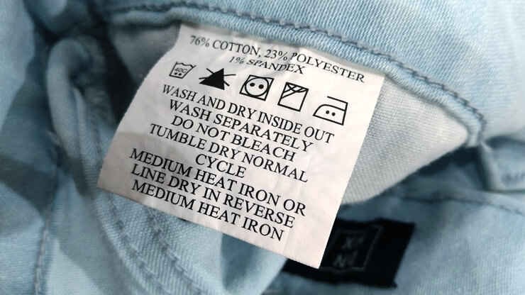 Tag on the Jeans